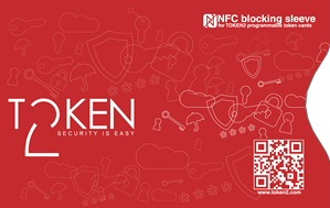 NFC blocking sleeve for programmable tokens (large cards)