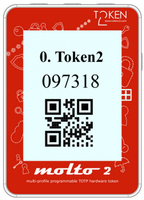Molto-2 Multi-profile TOTP Programmable hardware token